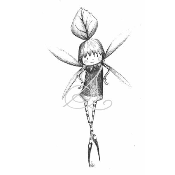 DRC Illustrations print biro faeries hazel