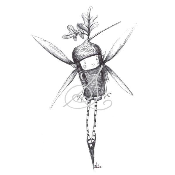 DRC Illustrations print biro faeries oakie