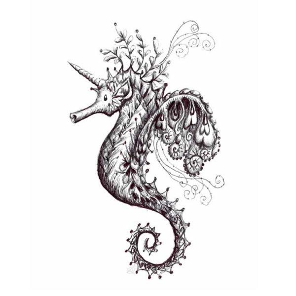 DRC Illustrations Sea Unicorn