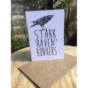 DRC Illustrations card Stark Raven Bonkers