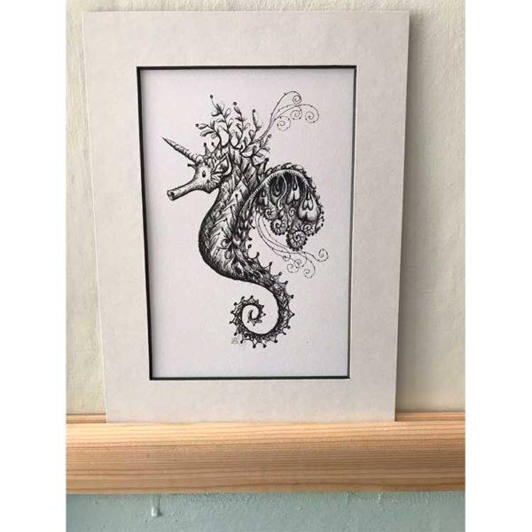 DRC Illustrations print biro animal unicorn